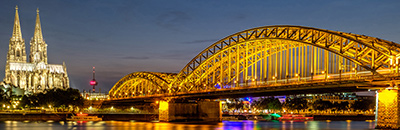 picture of bridge to Cologne Cathedral