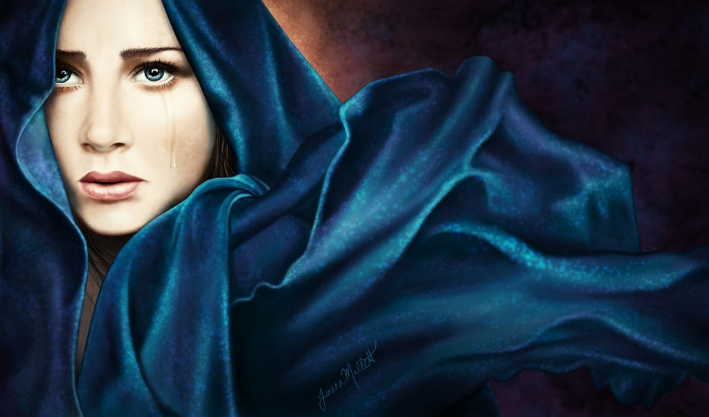 Painting of Our Lady of Sorrows by Tianna Mallett
