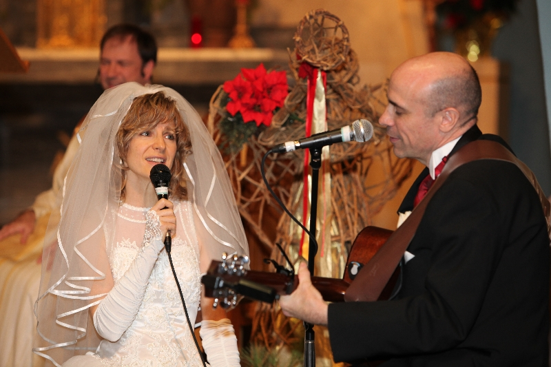 singing at our wedding