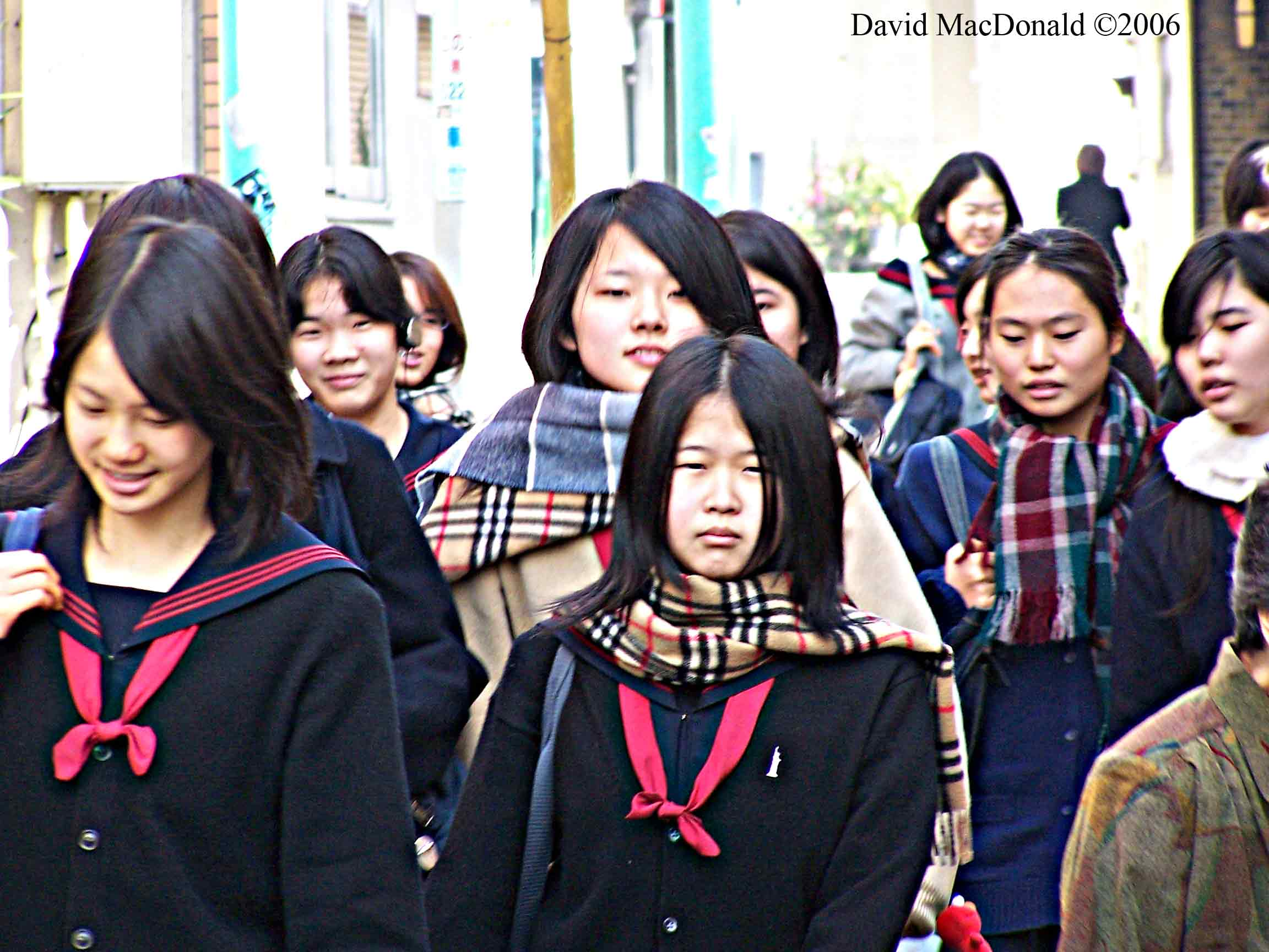 Students going to school, Yokohoma, Japan