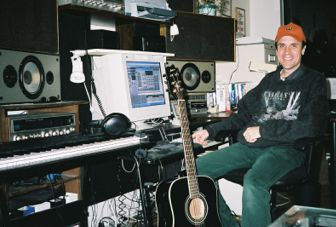 This is Hugh in his home studio - It is the source of many nights lost sleep