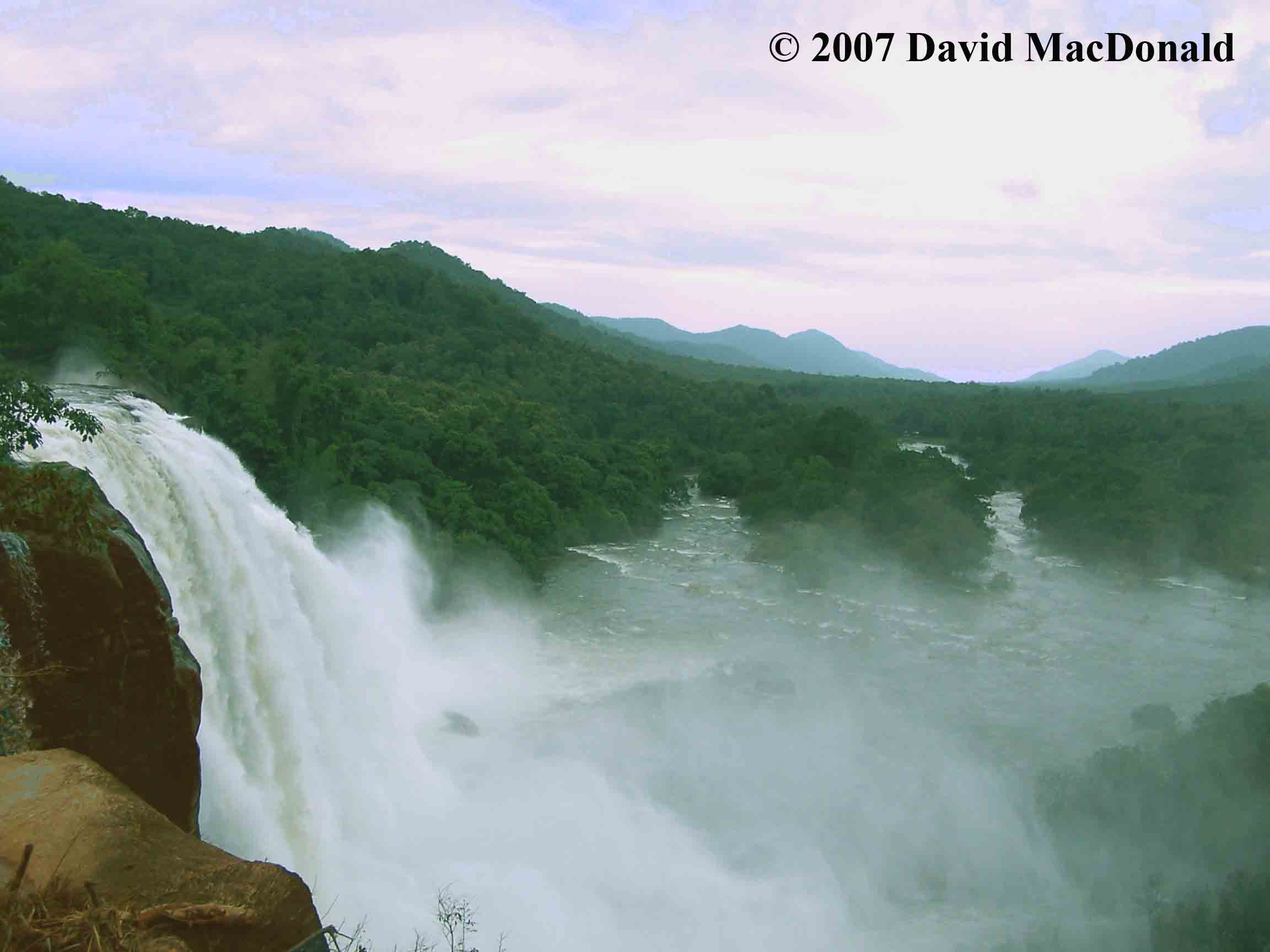 Athirapally and Vazhachal Waterfalls in  the province of Kerala
