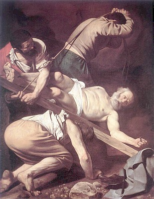 caravaggio painting of Peter's Crucifiction